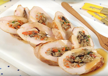 Chicken Stuffed with Ginger Sauce