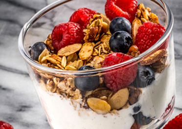 Yogurt Parfait with Granola and Berries